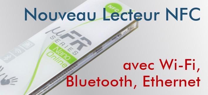 uFR Nano Online - Lecteur NFC avec Wi-Fi, Bluetooth, Ethernet