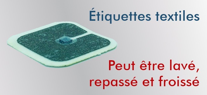 Tags NFC textiles flexibles NTAG212 30x30mm
