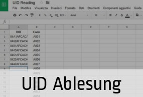 NFC Tags' UID Reading and collecting in Excel spreadsheet
