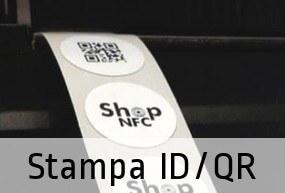 Stampa monocromatica di logo, codici seriali, QR code e campi variabili